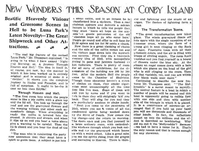 Article from the New York Times, April 21st 1907.
